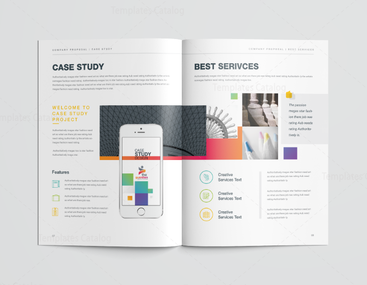 16 Pages Best Elegant Proposal Template 001118 - Template Catalog