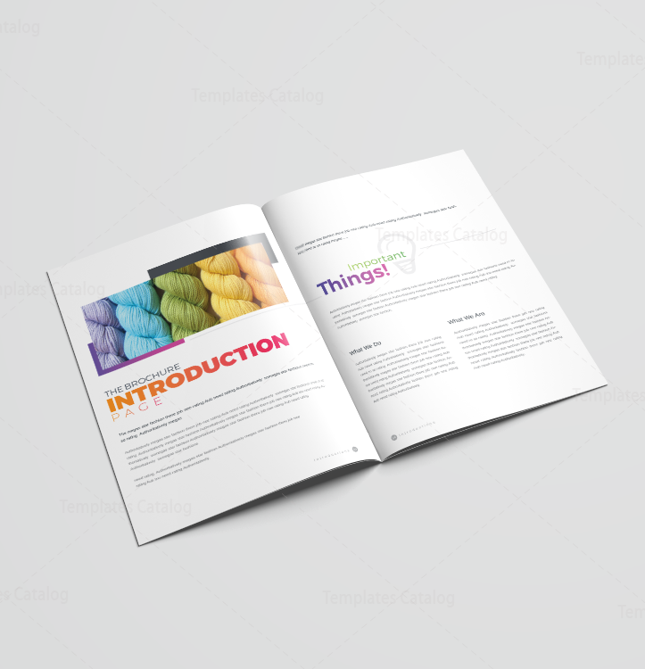 pages brochure template - 16 pages colorful elegant brochure template 001191