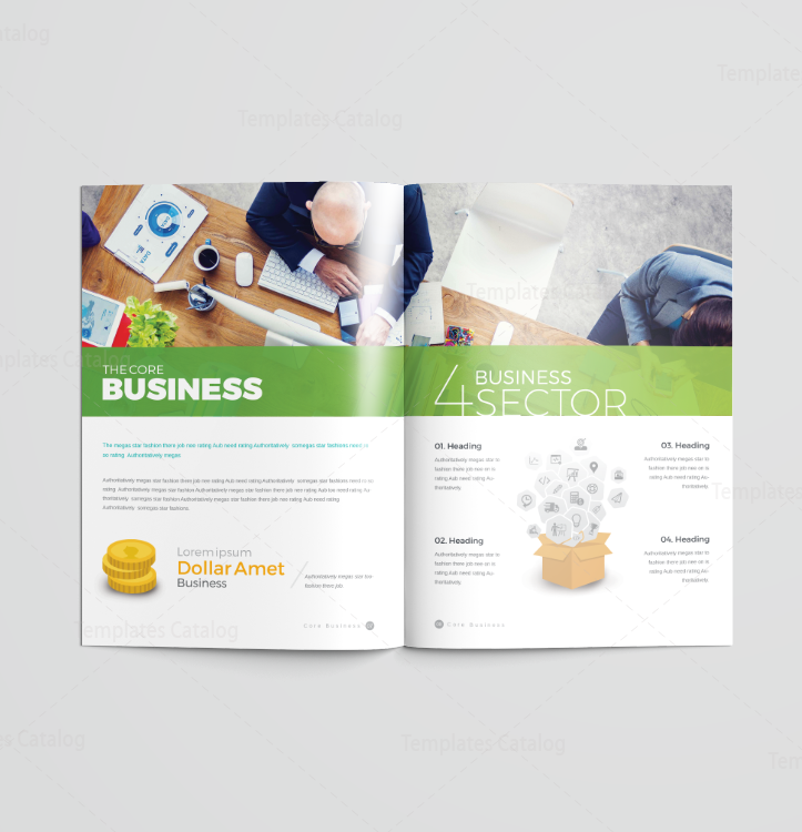 16 Pages Colorful Elegant Brochure Template 001191 Template Catalog