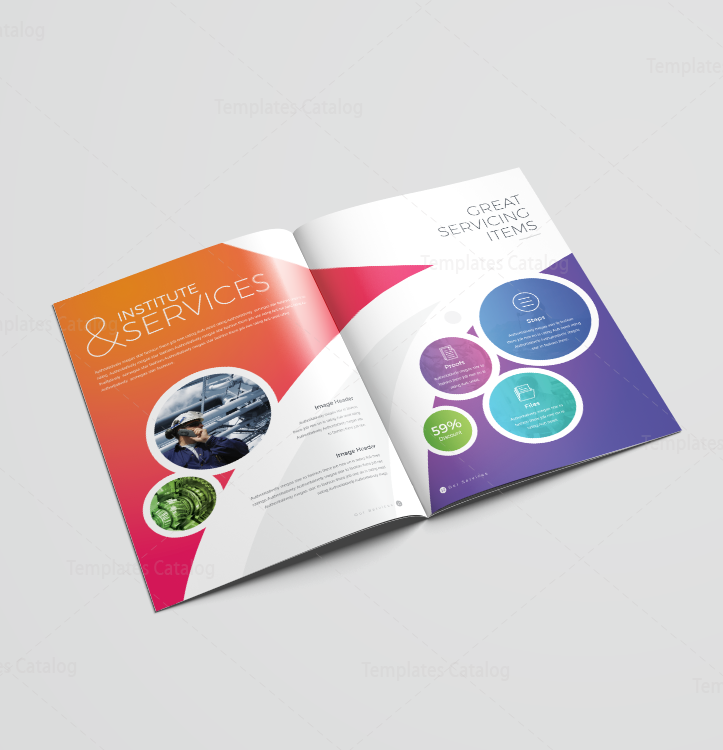 16 Pages Colorful Elegant Brochure Template 001191 - Template Catalog
