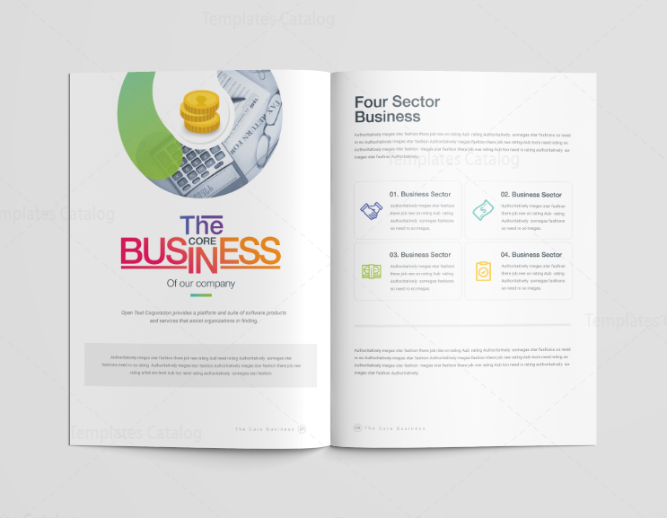 professional brochure templates - 16 pages diamond professional corporate brochure template