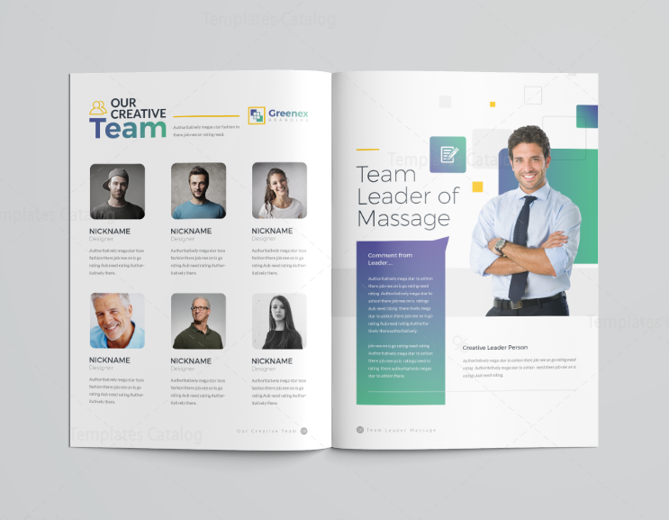 16 pages minimalist elegant corporate brochure template 001195