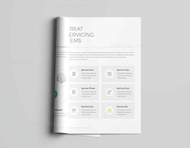 16 pages minimalist elegant corporate brochure template 5