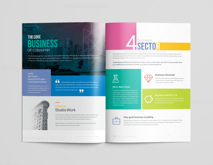 16 pages neptune elegant corporate brochure template for Pages brochure template