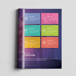 16 Pages Neptune Elegant Corporate Brochure Template