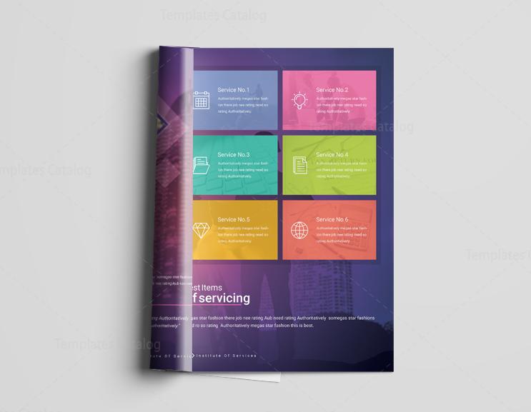 Pages Neptune Elegant Corporate Brochure Template - Elegant brochure templates
