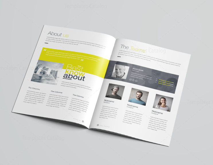 16 Pages Poseidon Professional Company Profile Template 001117 ...