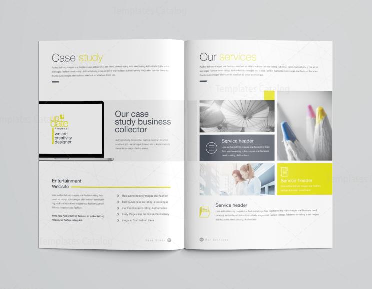 16 Pages Poseidon Professional Company Profile Template 001117 ...