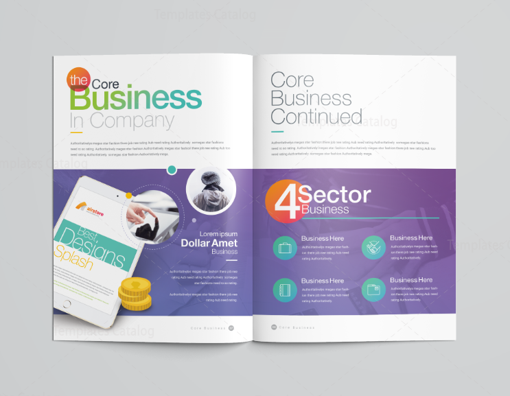 16 Pages Rainbow Professional Corporate Brochure Template 001197