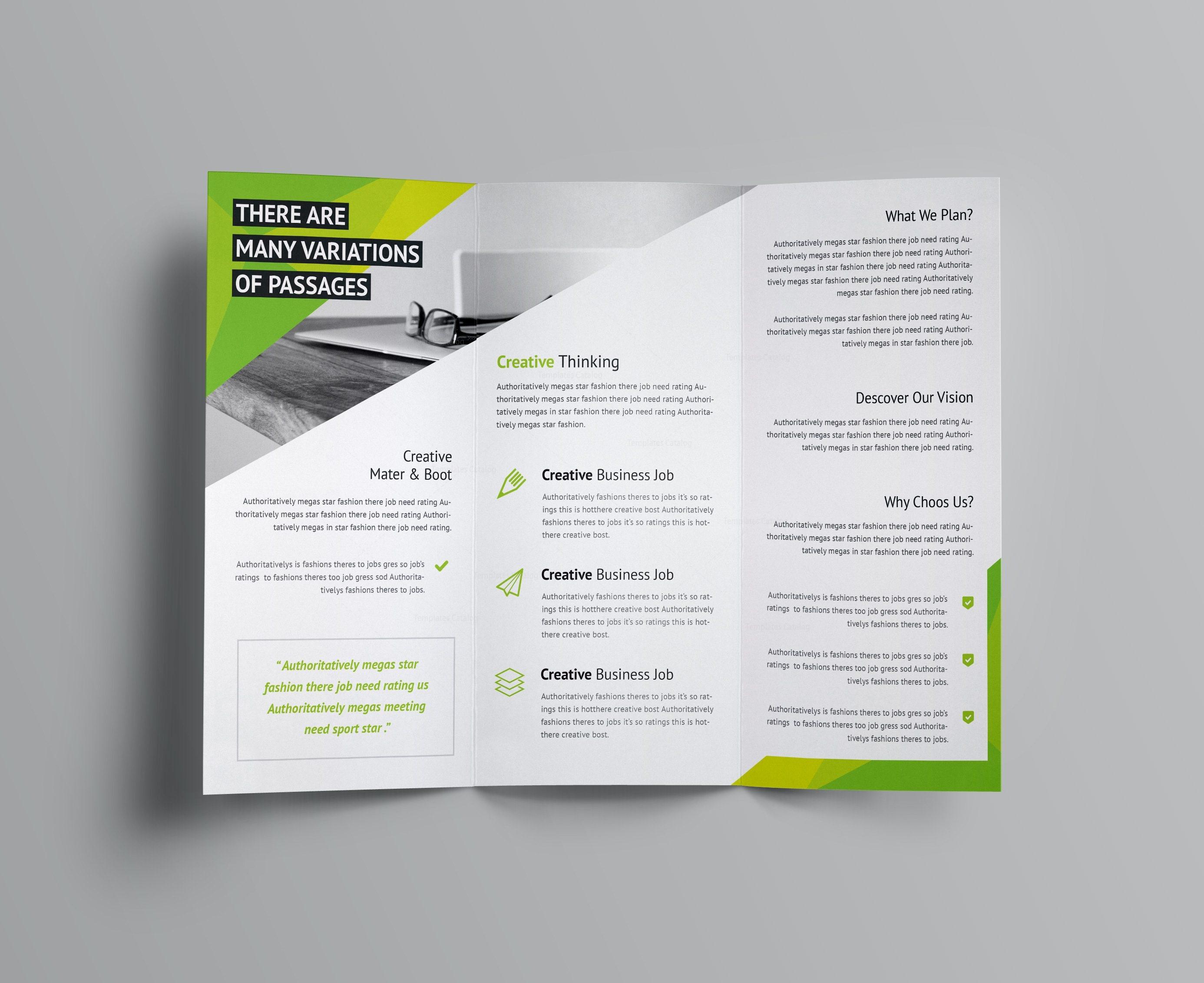 Aeolus Corporate Tri Fold Brochure Template 001159