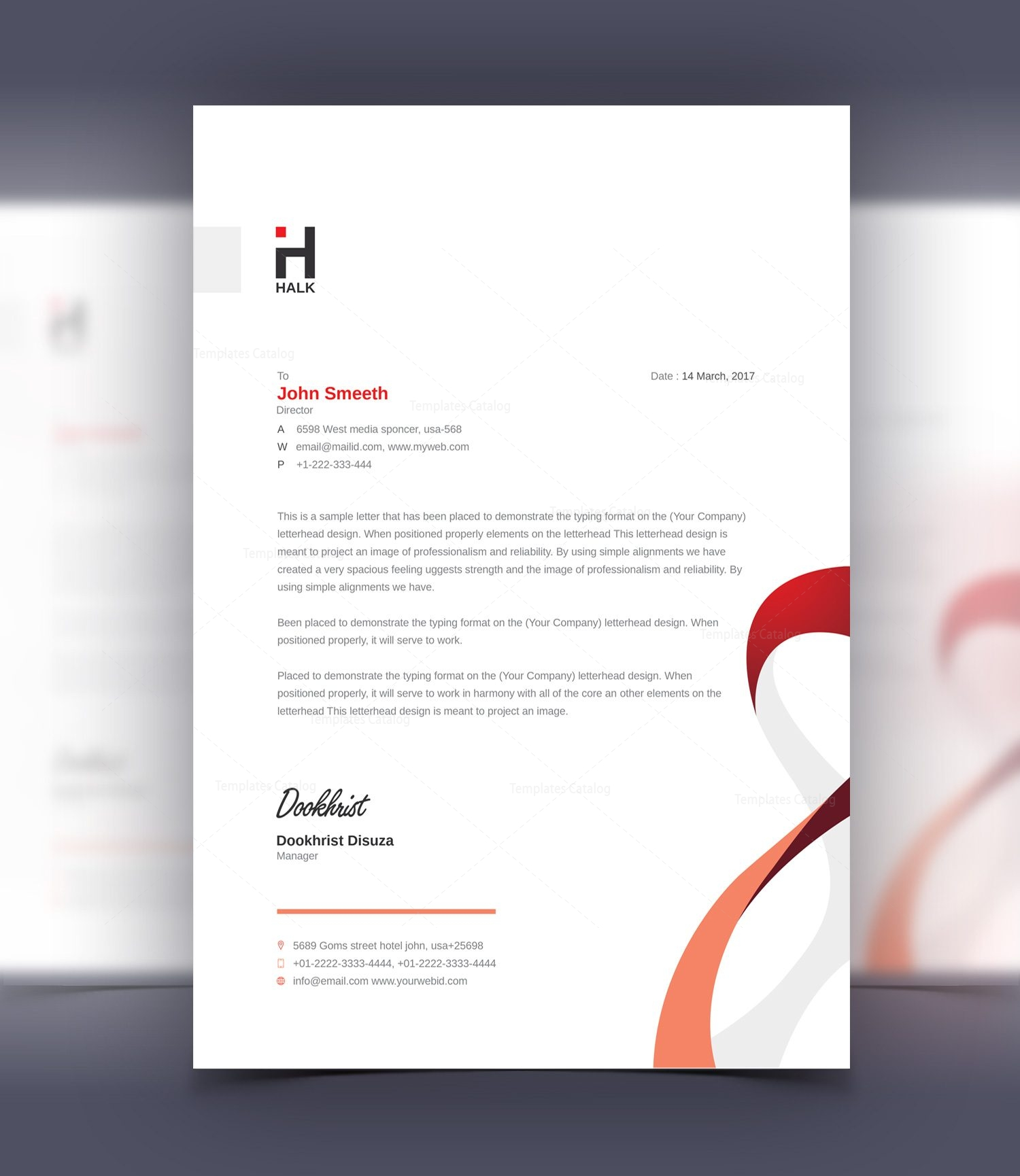 Aeolus Professional Corporate Letterhead Template 3