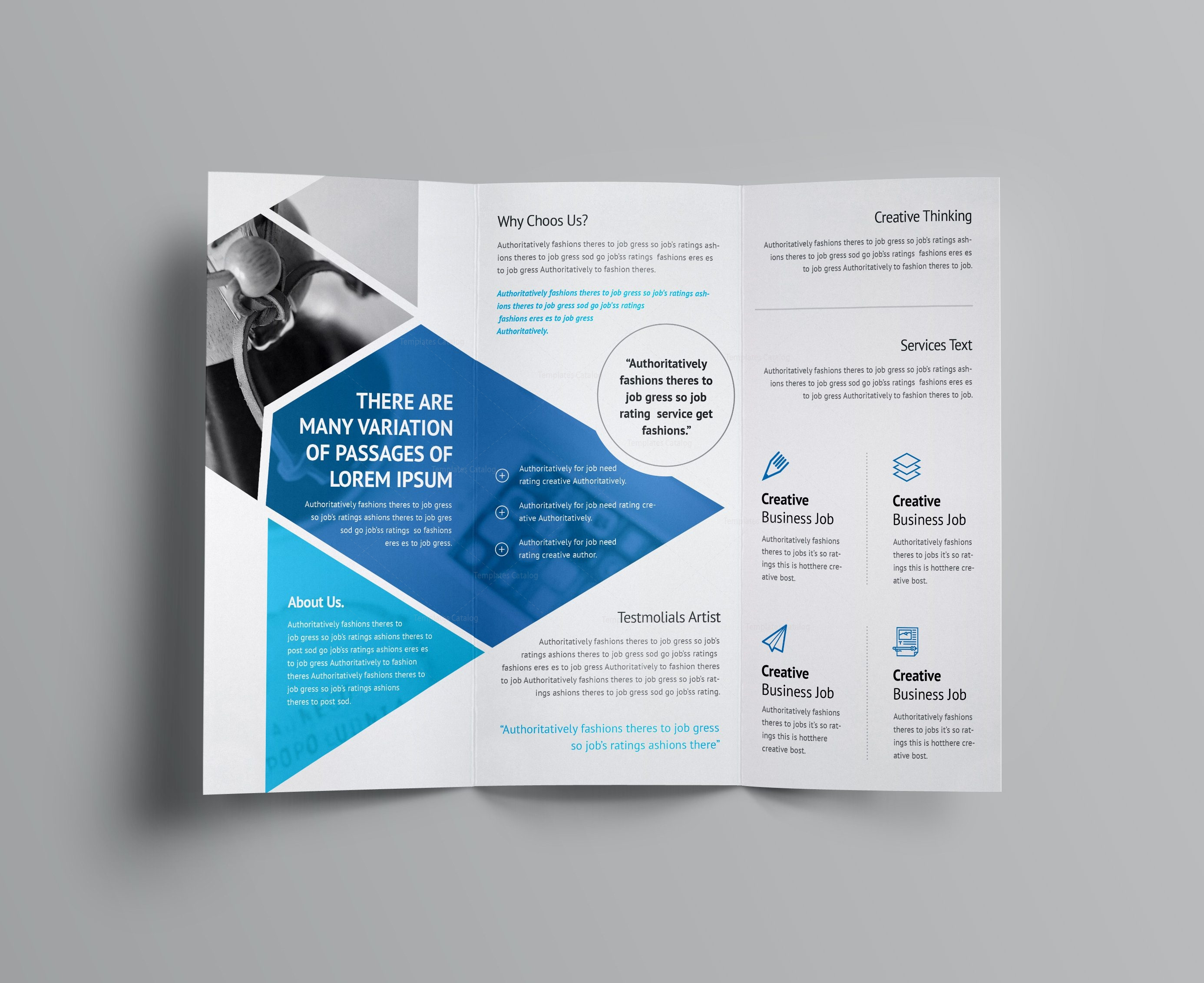Aether corporate tri fold brochure template 001160 for Folded brochure template