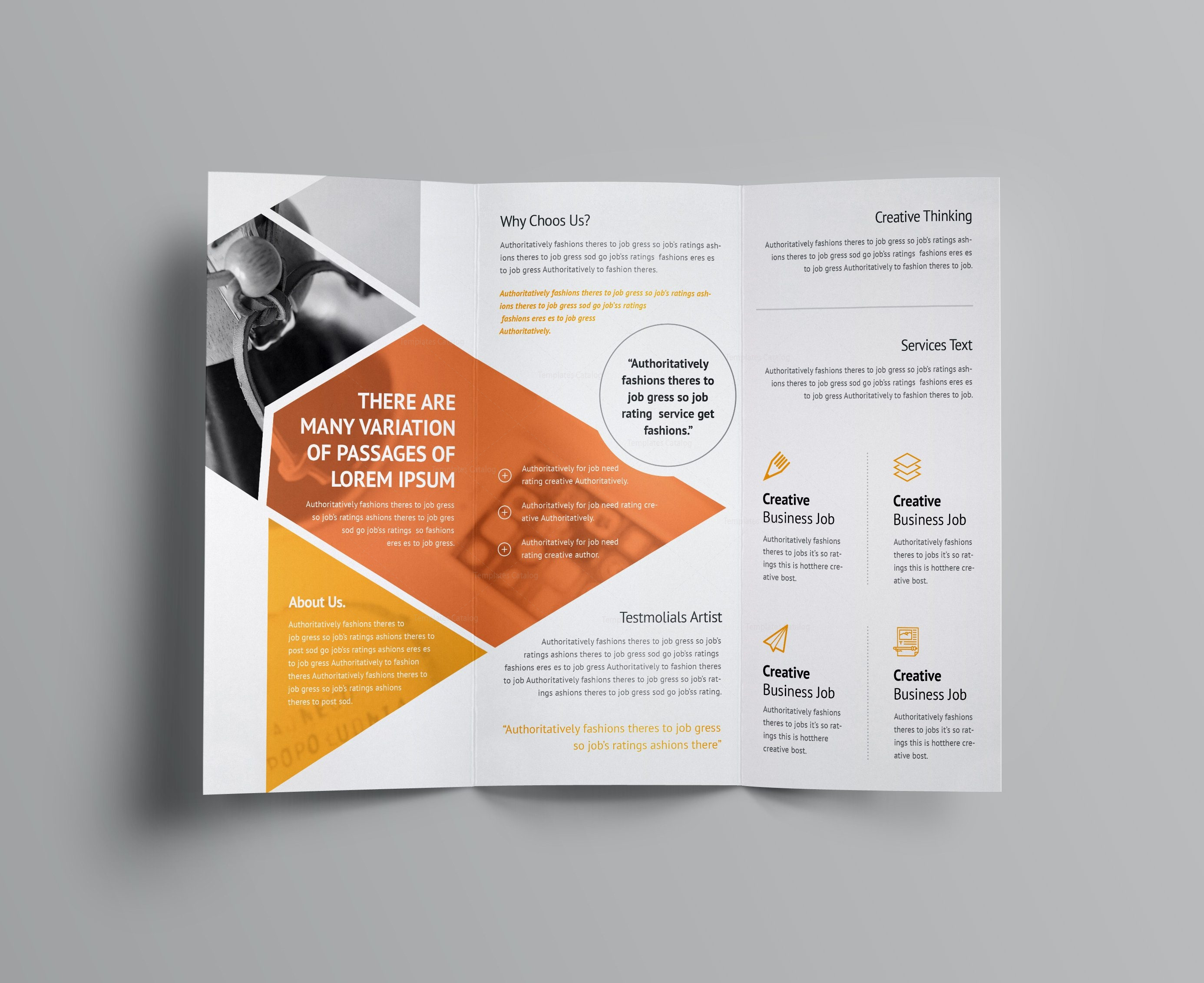 Aether Corporate TriFold Brochure Template Template Catalog - Tri fold brochures templates