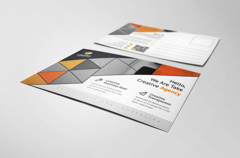 Alastor Modern Elegant Postcard Template 001134 - Template Catalog