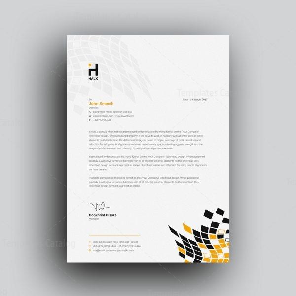 Alastor Professional Corporate Letterhead Template 001026