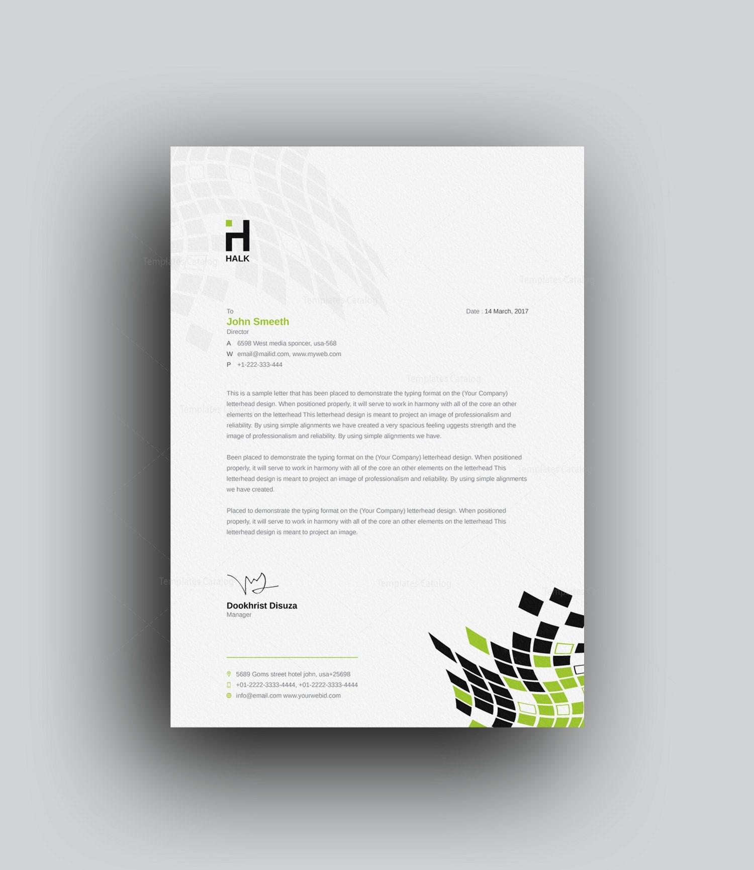 Corporate Letterhead Template: Alastor Professional Corporate Letterhead Template 001026