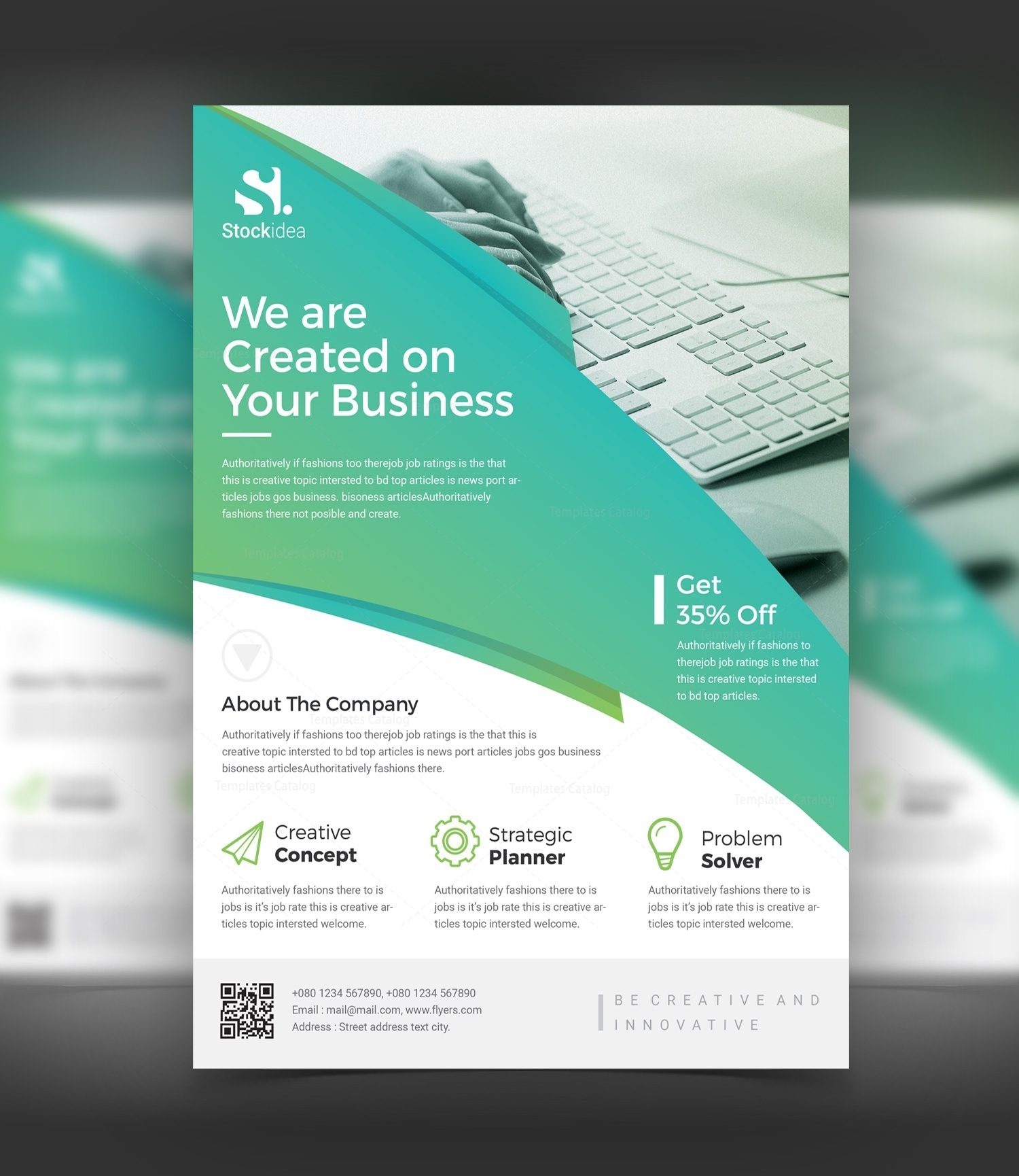 Alexander modern professional business flyer template 001042 alexander modern professional business flyer template 1 cheaphphosting Images