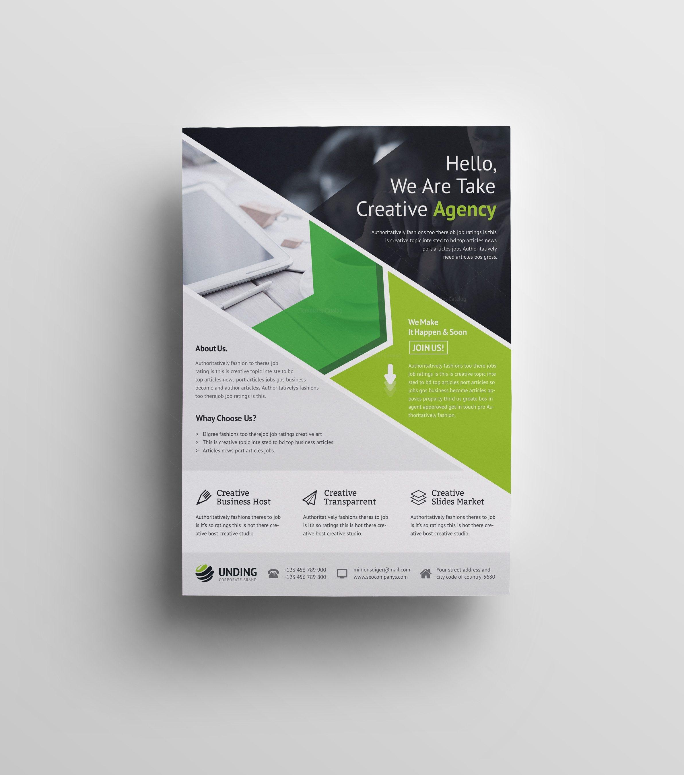 Andromeda Elegant Premium Business Flyer Template 001065 - Template ...