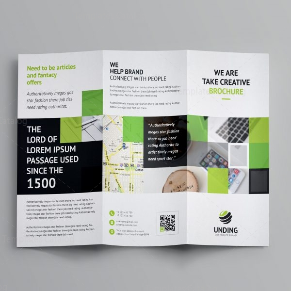 Angular Corporate Tri Fold Brochure Template 001168 Template Catalog