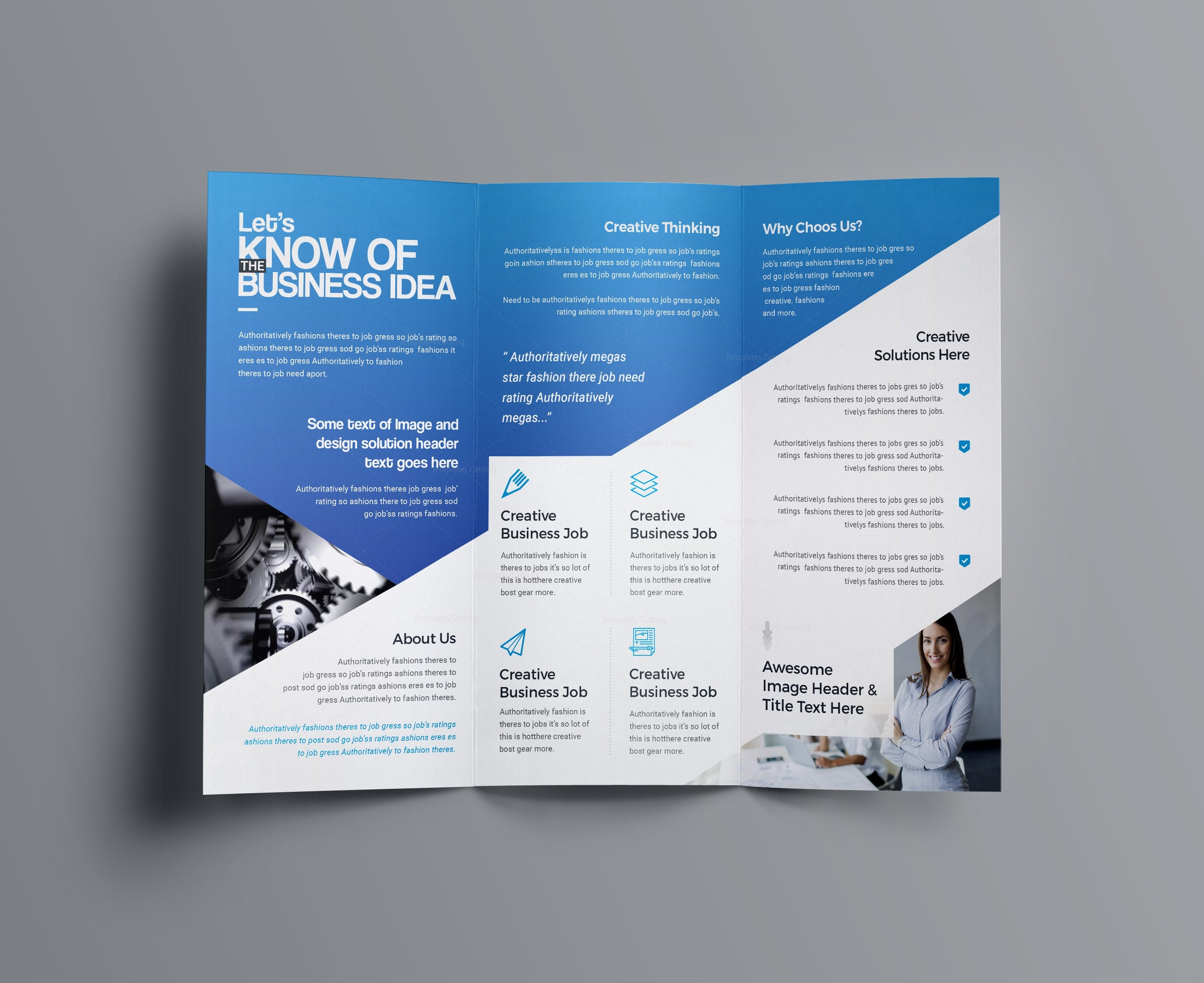 Aphrodite business tri fold brochure template 001201 for Tri fold business brochure template