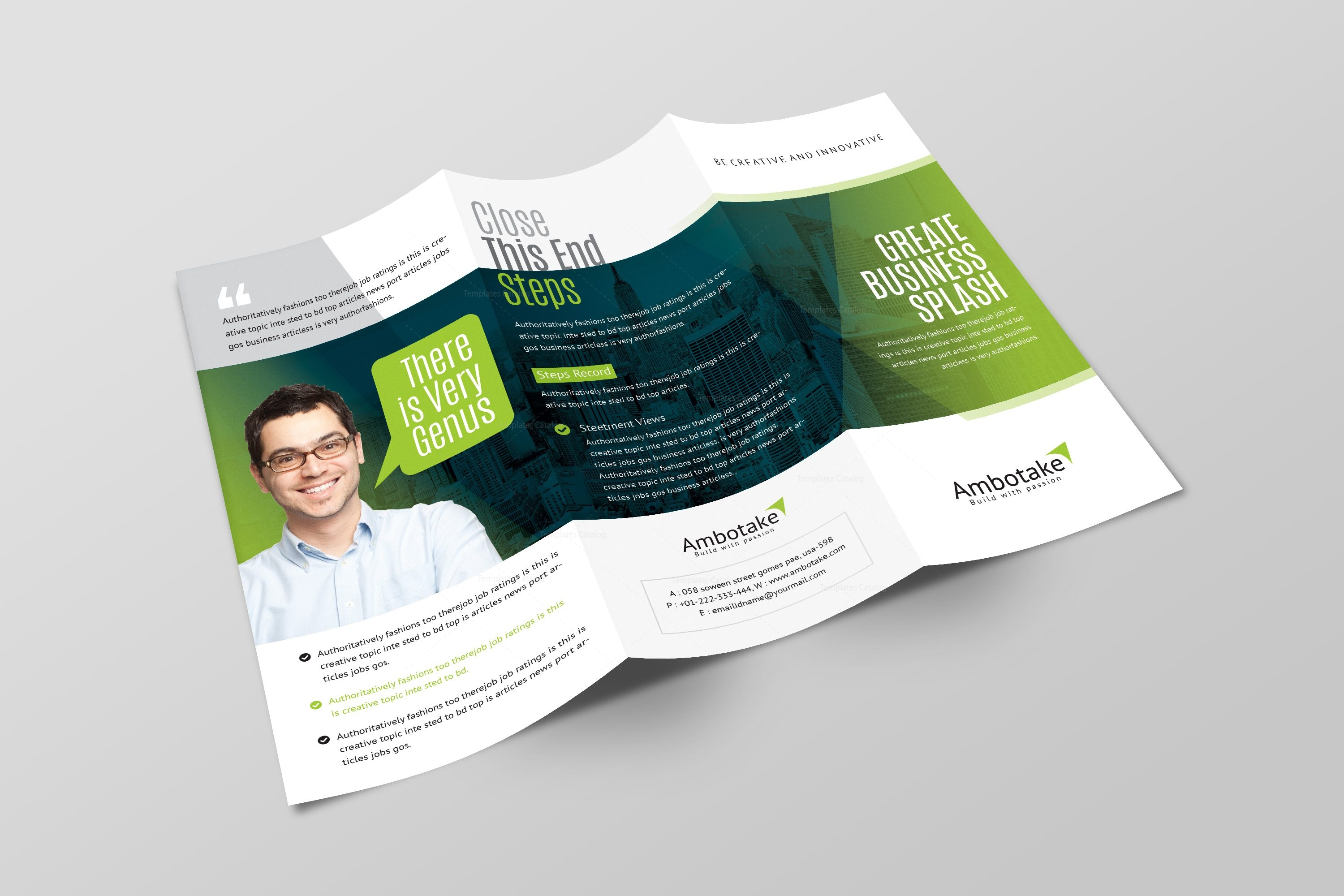 Apollo corporate tri fold brochure template 001156 for Corporate tri fold brochure template
