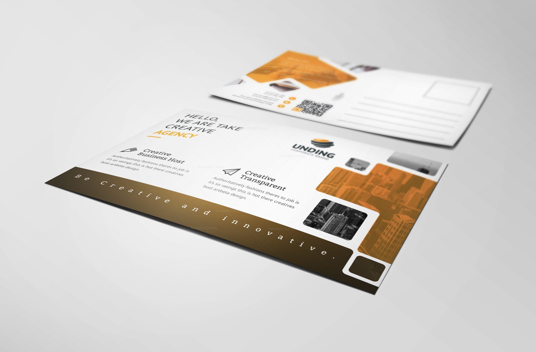 ares modern elegant postcard template 3