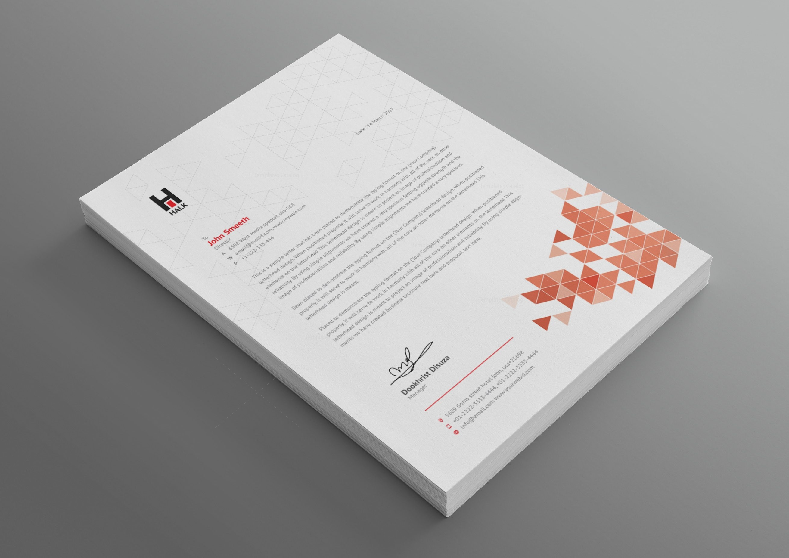 Ares Professional Corporate Letterhead Template 001028 - Template ...