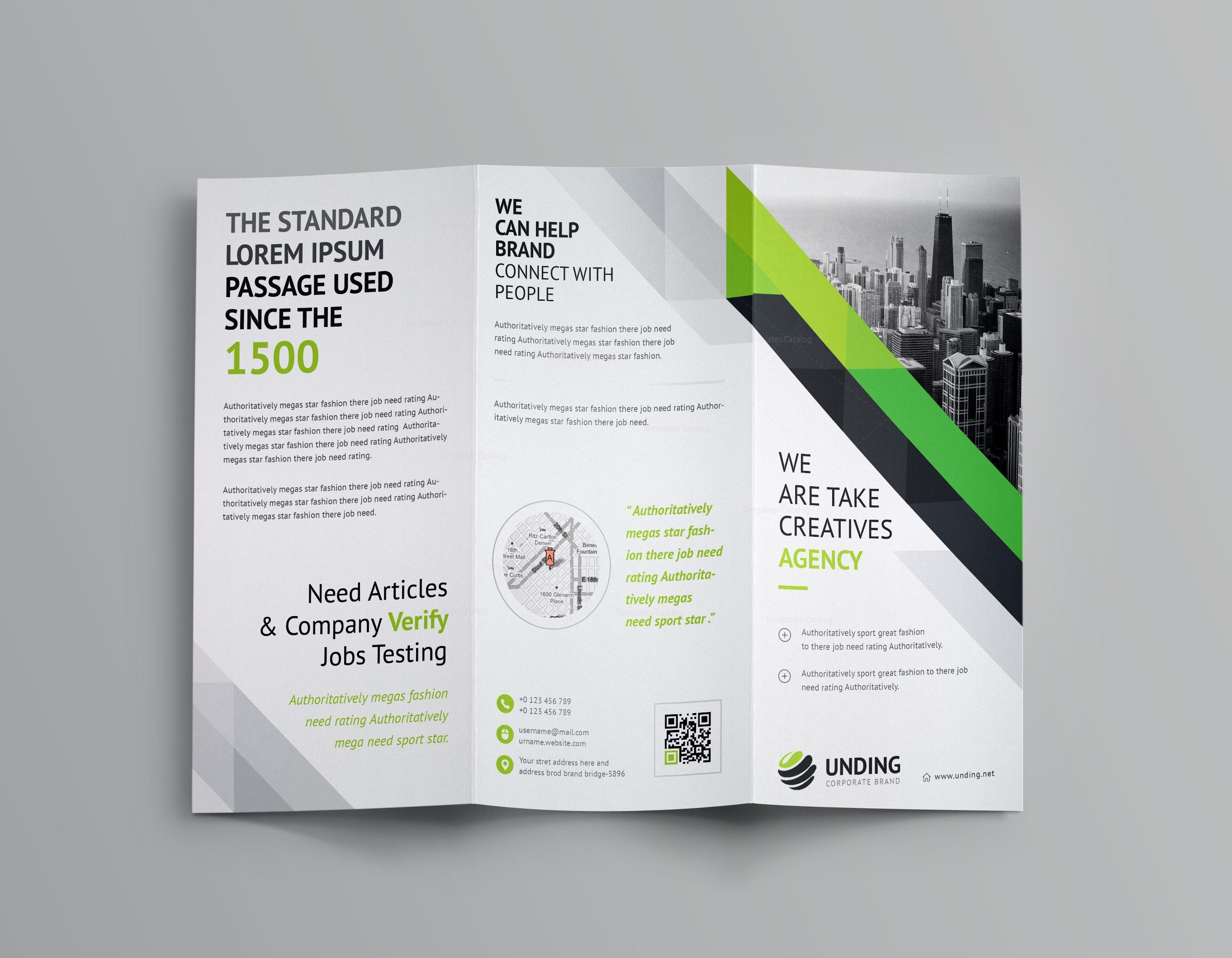 Aristaeus corporate tri fold brochure template 001166 for Corporate brochure templates