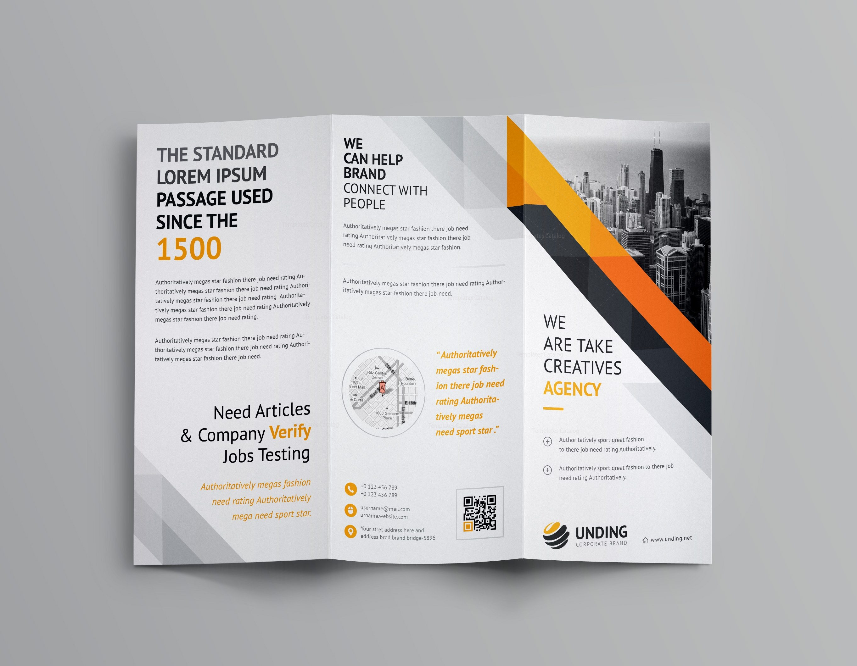 tri fold brochures templates - aristaeus corporate tri fold brochure template 001166