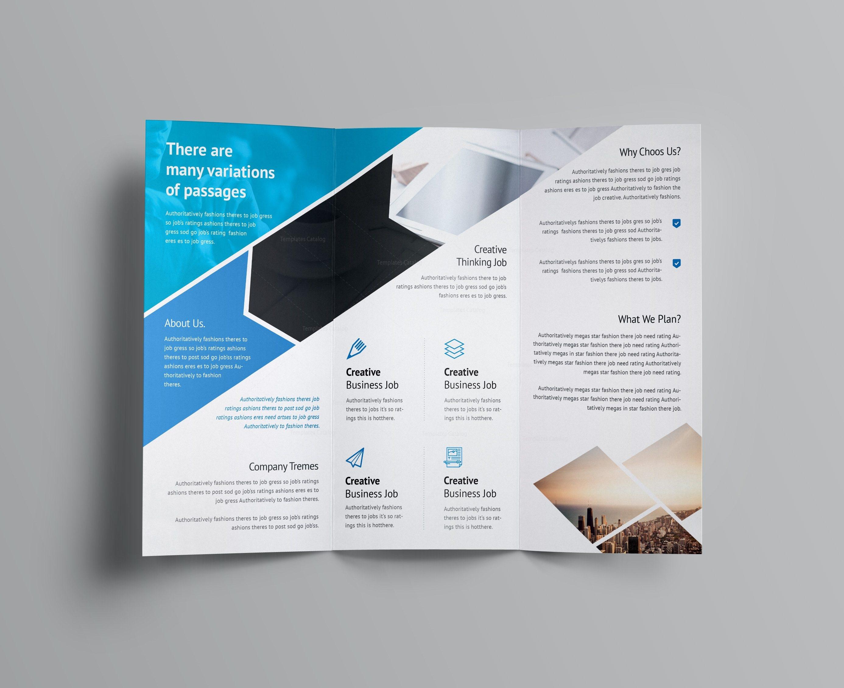 corporate tri fold brochure template - arrow corporate tri fold brochure template 001162