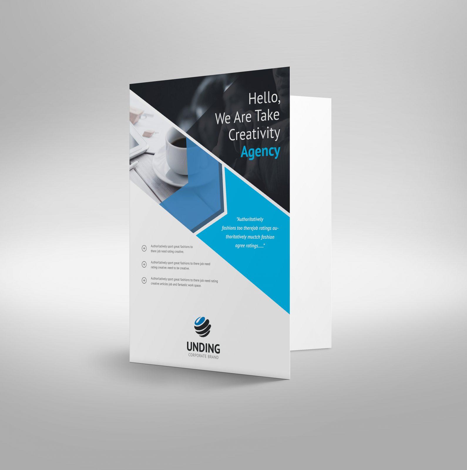 arrow elegant corporate presentation folder template 001190
