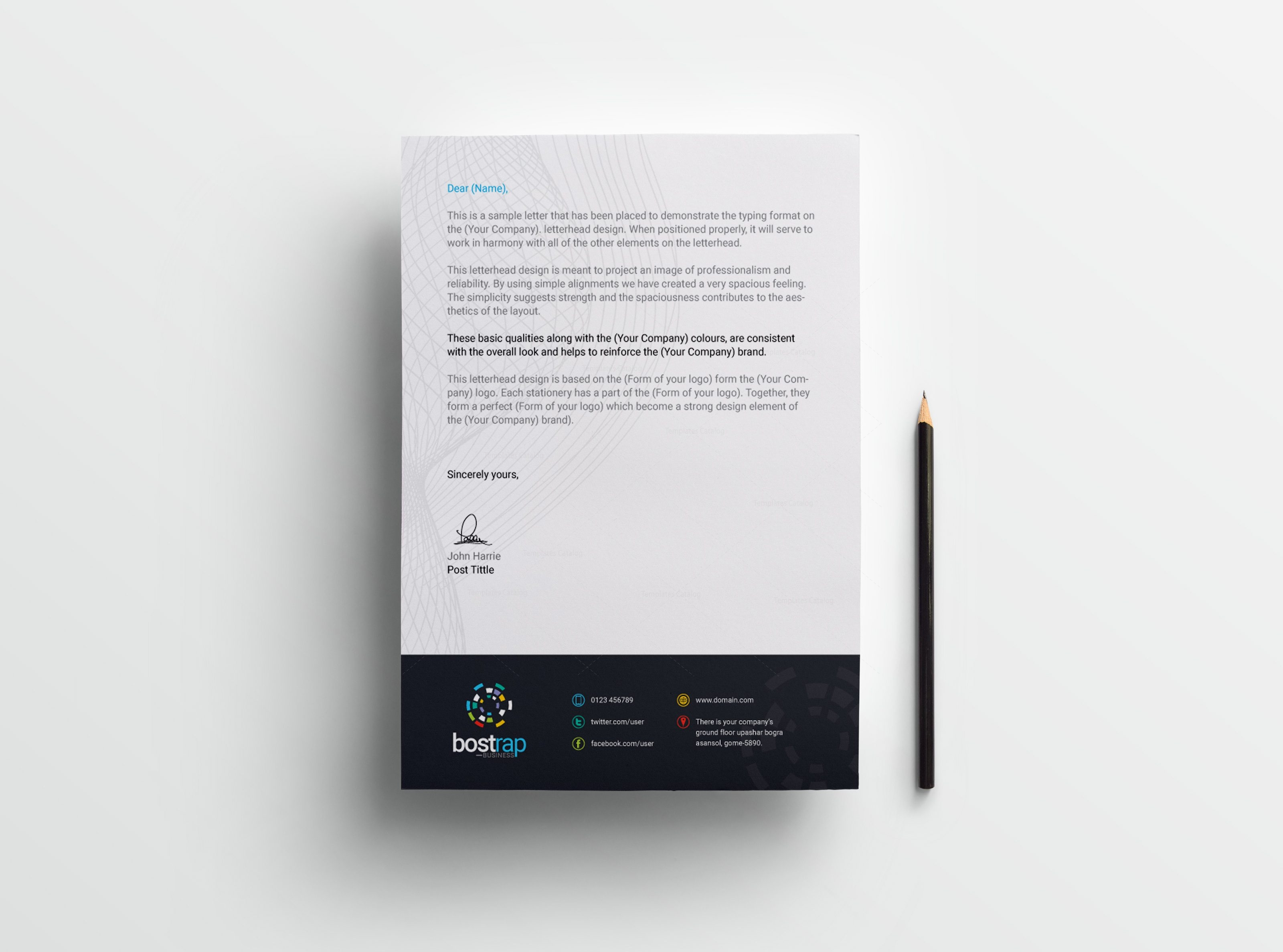 Professional Letterhead Format Professional Letter Format With