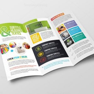 Athena Professional Corporate Tri-Fold Brochure Template