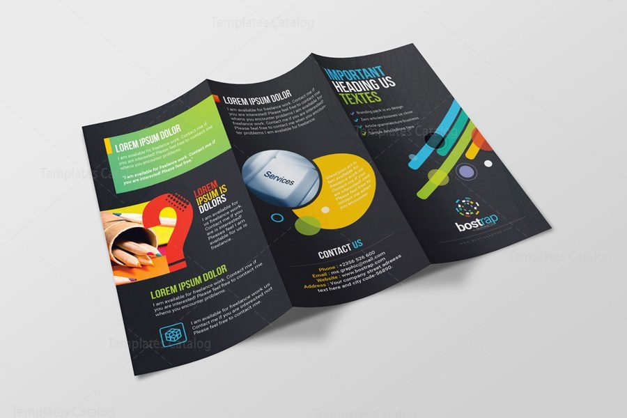 Athena Professional Corporate Tri Fold Brochure Template 001214