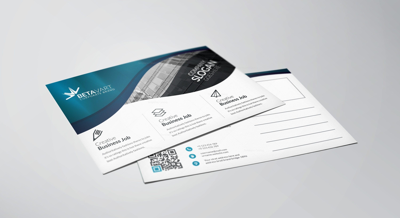 Atlas Modern Elegant Postcard Template 001142 - Template Catalog
