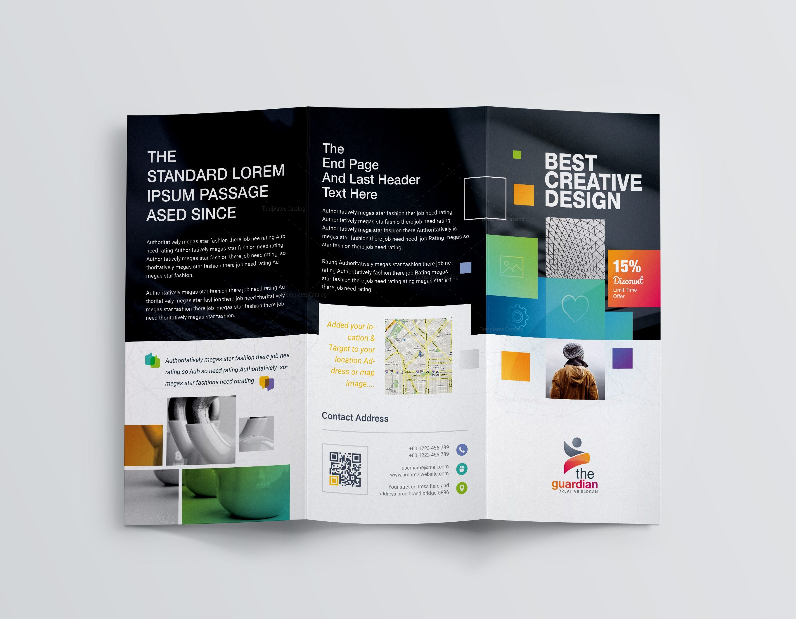Best Creative Corporate TriFold Brochure Template - Trifold brochure template