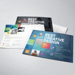 Best Creative Stylish Postcard Template