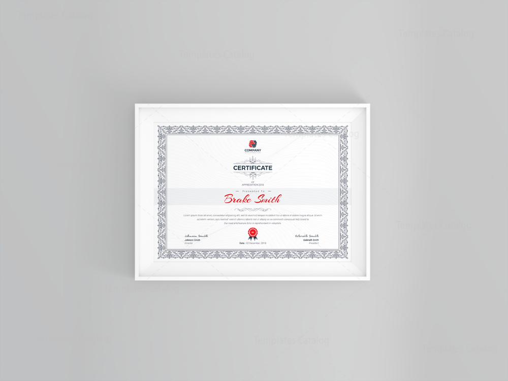 Best seller professional certificate template 001121 for Top seller certificate templates