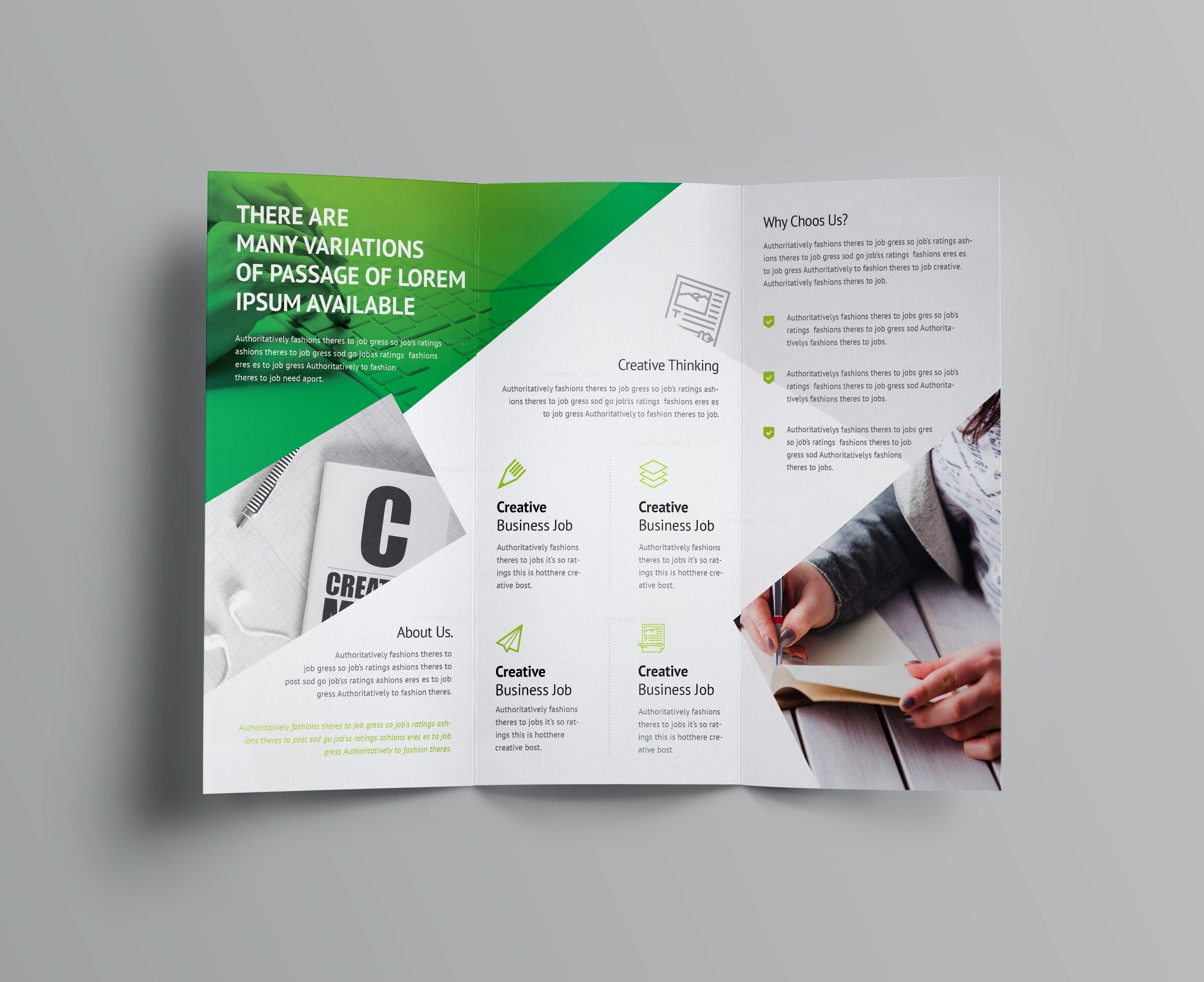 Cerberus corporate tri fold brochure template 001158 for Corporate tri fold brochure template