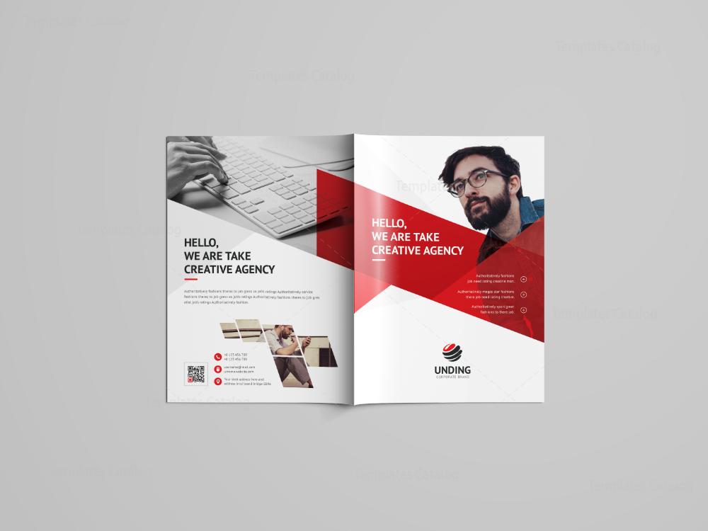Cerberus Professional Bi Fold Brochure Template 001084 Template