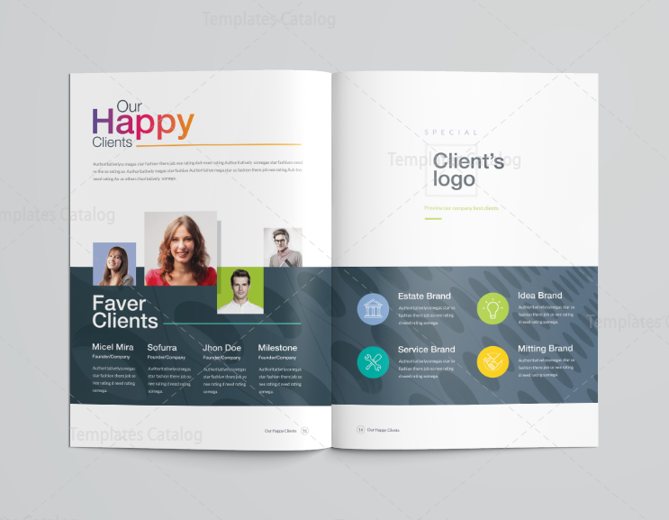 professional brochure templates - 16 pages clean professional corporate brochure template