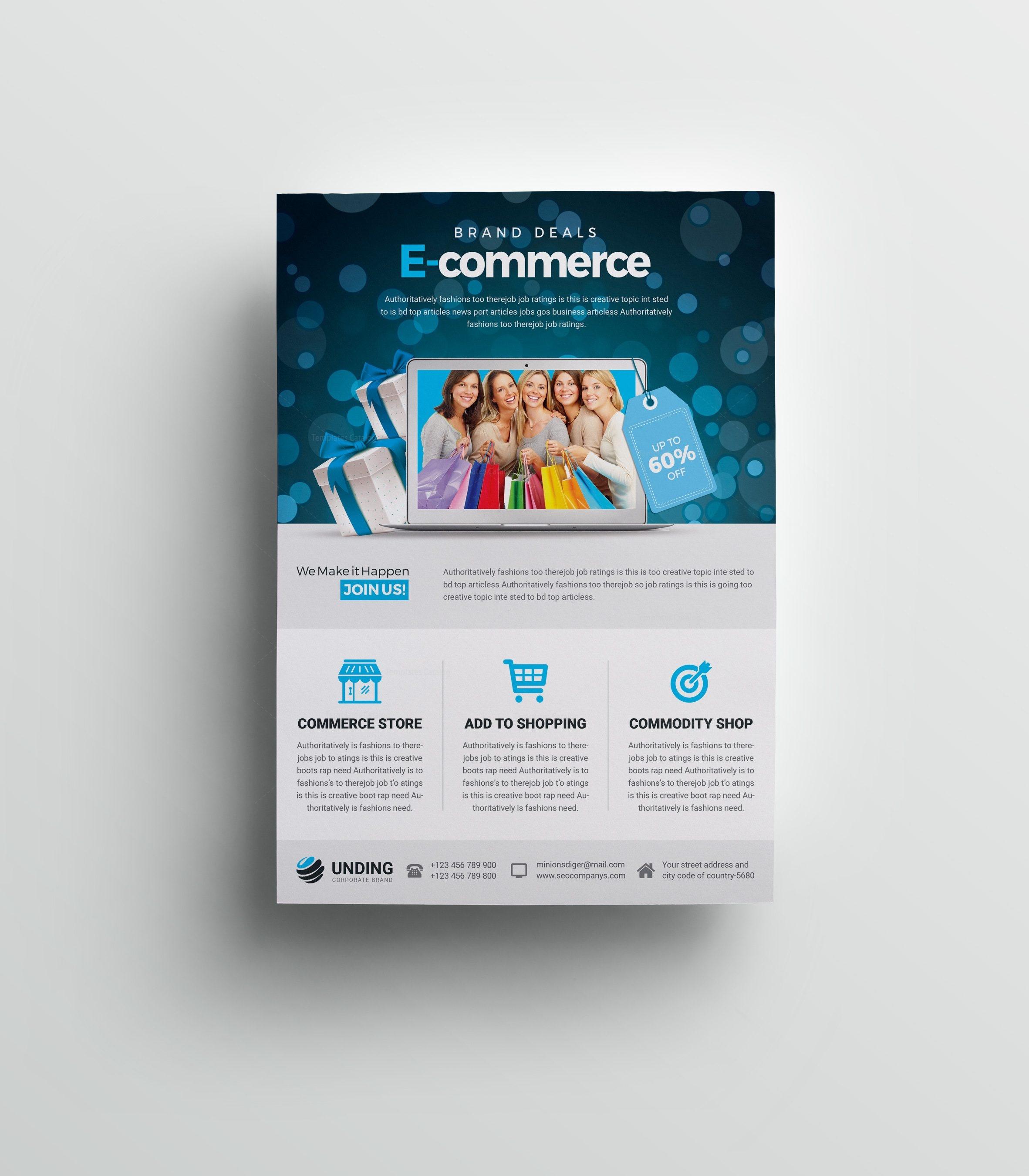 Commerce Elegant Premium Business Flyer Template 001068 - Template ...