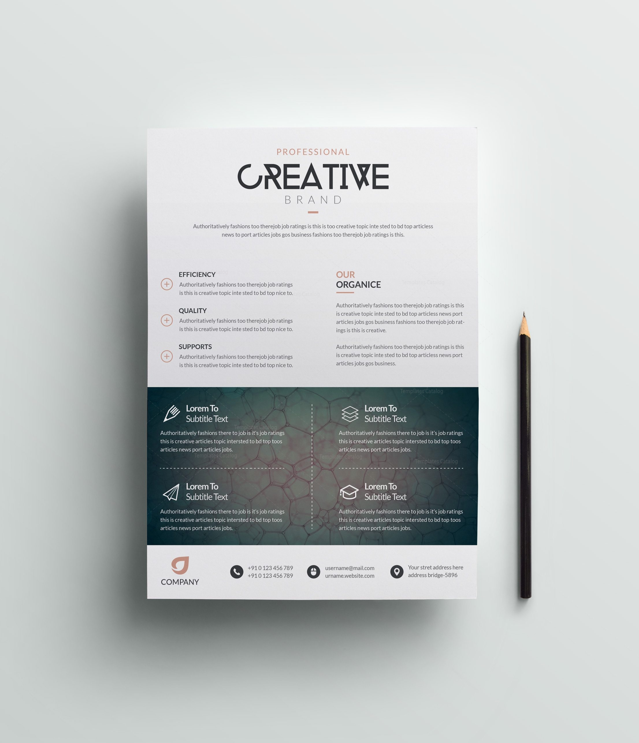 Eagle modern premium business flyer template 001055 template catalog eagle modern premium business flyer template 3 cheaphphosting Images