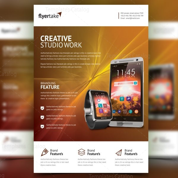 Electron Stylish Professional Corporate Flyer Template 001018