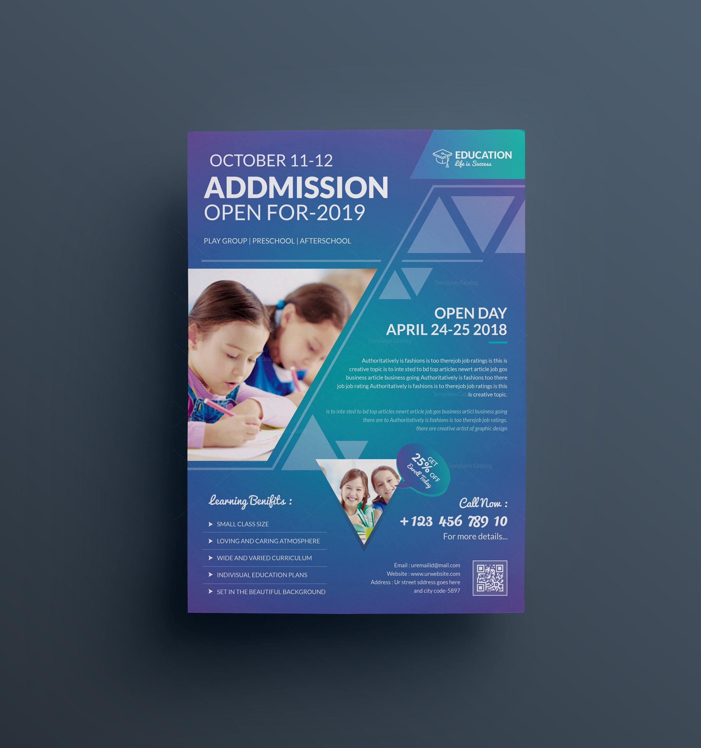 Education Flyer Template Demirediffusion