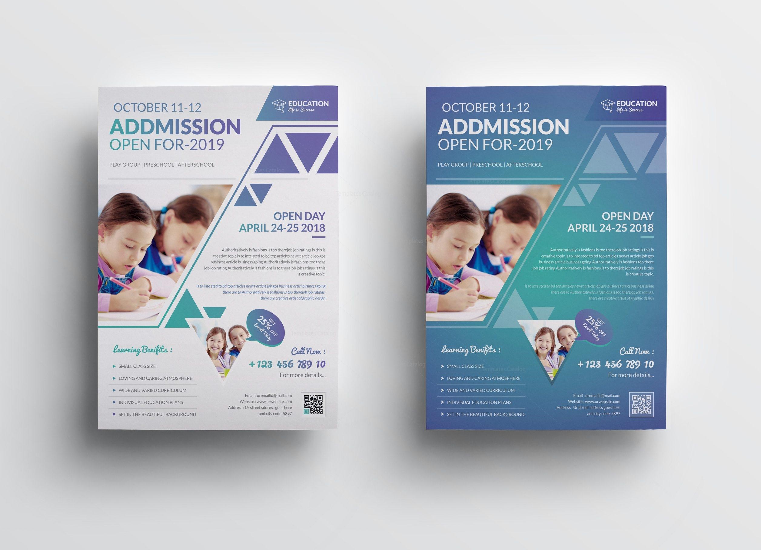 Elegant Premium Education Flyer Template 5 Template Catalog