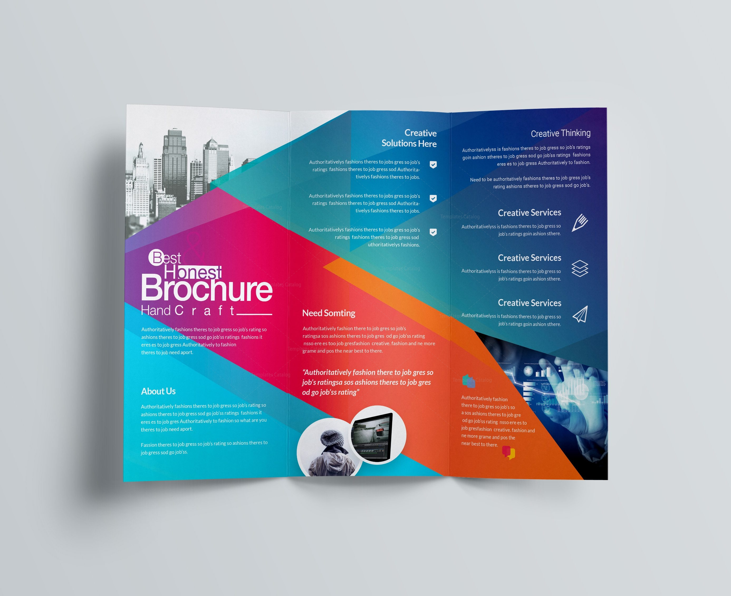 professional brochure templates - excellent professional corporate tri fold brochure
