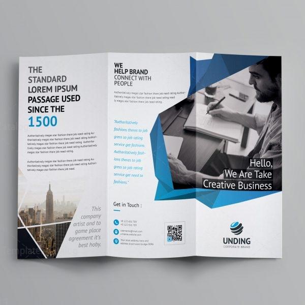 Fancy Business Tri Fold Brochure Template 001170 Template Catalog