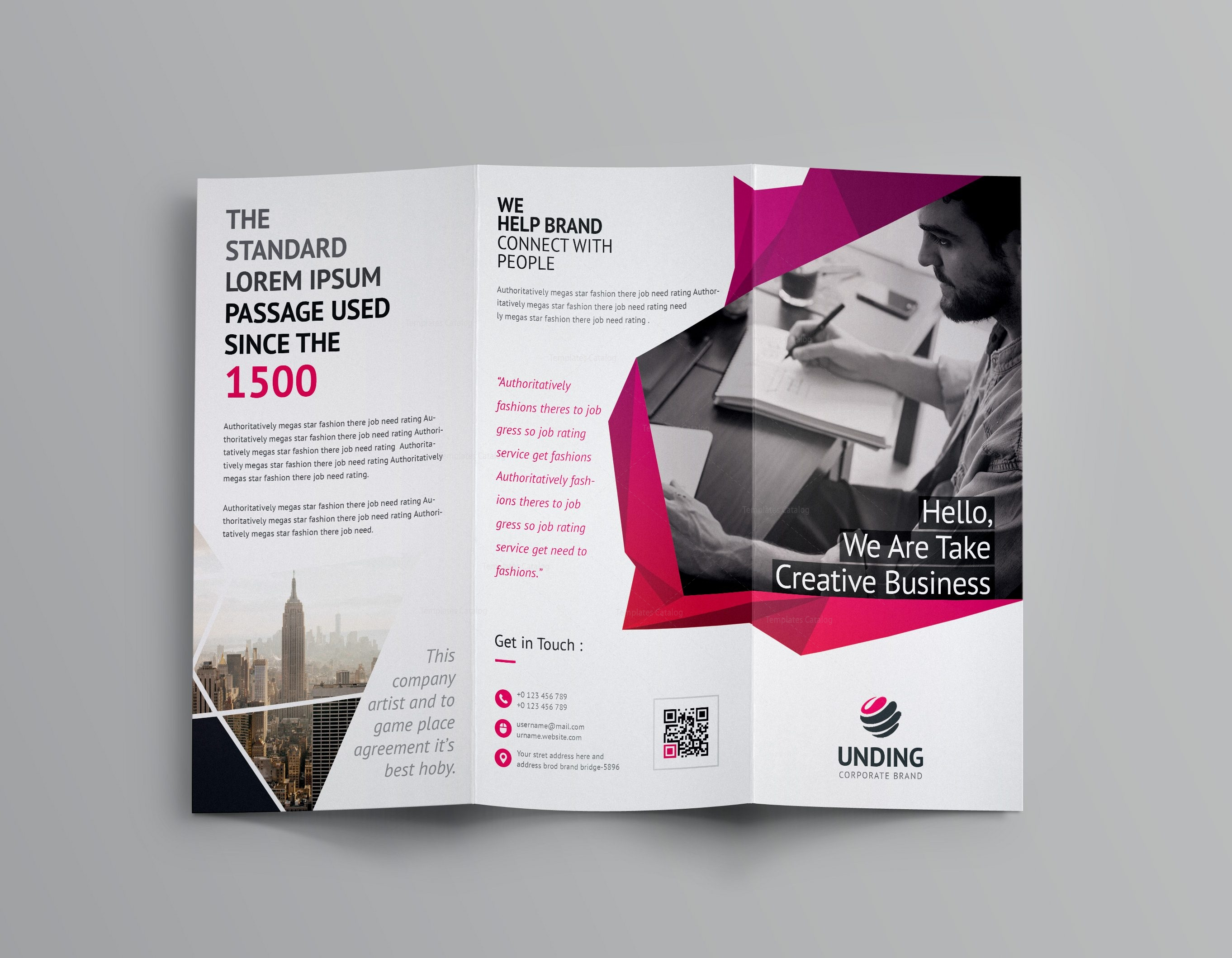 Fancy Business TriFold Brochure Template Template Catalog - Fancy brochure templates