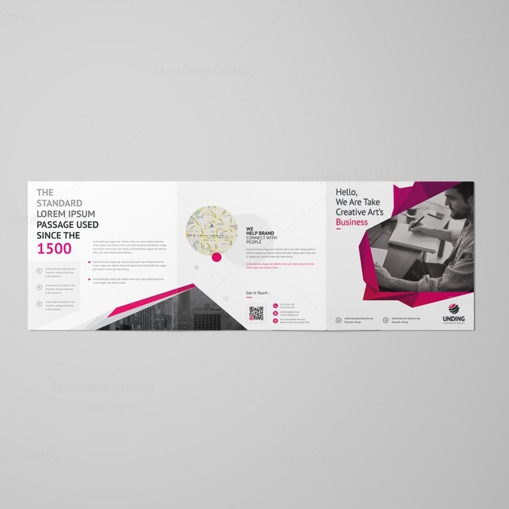 Fancy elegant corporate square tri fold brochure 001157 for Fancy brochure templates